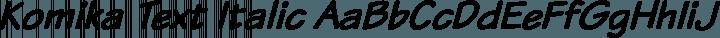 Komika Text Italic free font
