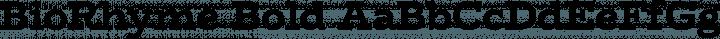BioRhyme Bold free font