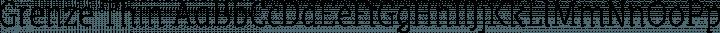 Grenze Thin free font