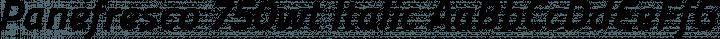 Panefresco 750wt Italic free font
