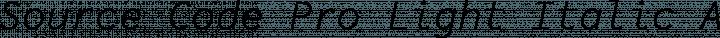 Source Code Pro Light Italic free font