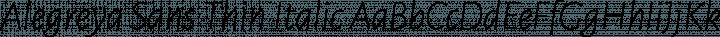 Alegreya Sans Thin Italic free font