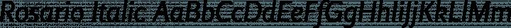 Rosario Italic free font