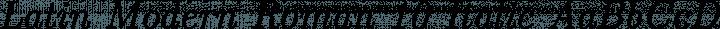 Latin Modern Roman 10 Italic free font