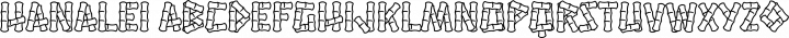 Hanalei Regular free font