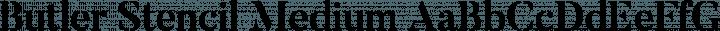 Butler Stencil Medium free font