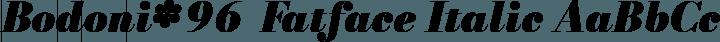 Bodoni* 96  Fatface Italic free font