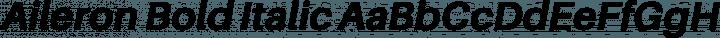 Aileron Bold Italic free font