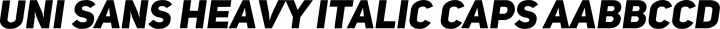 Uni Sans Heavy Italic Caps free font