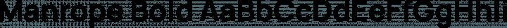 Manrope Bold free font
