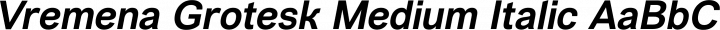Vremena Grotesk Medium Italic free font