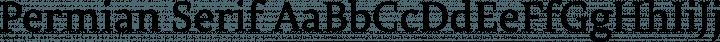Permian Serif Regular free font