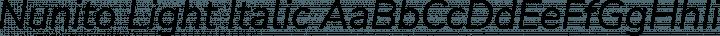 Nunito Light Italic free font