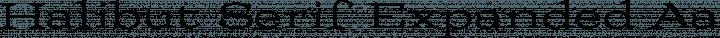 Halibut Serif Expanded free font