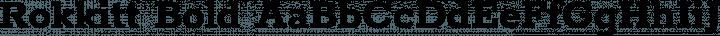 Rokkitt Bold free font