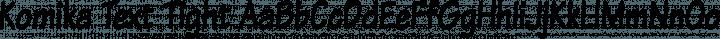 Komika Text Tight Regular free font