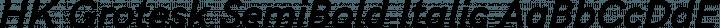 HK Grotesk SemiBold Italic free font