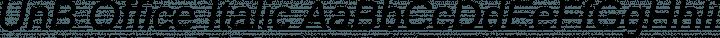 UnB Office Italic free font