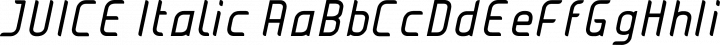 JUICE Italic free font