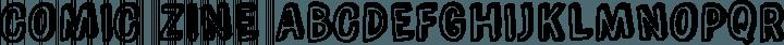 Comic Zine font family by Blue Vinyl Fonts