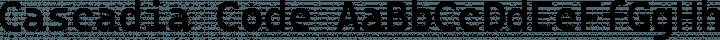 Cascadia Code Regular free font