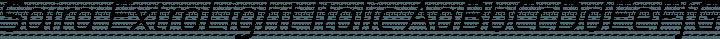 Saira ExtraLight Italic free font