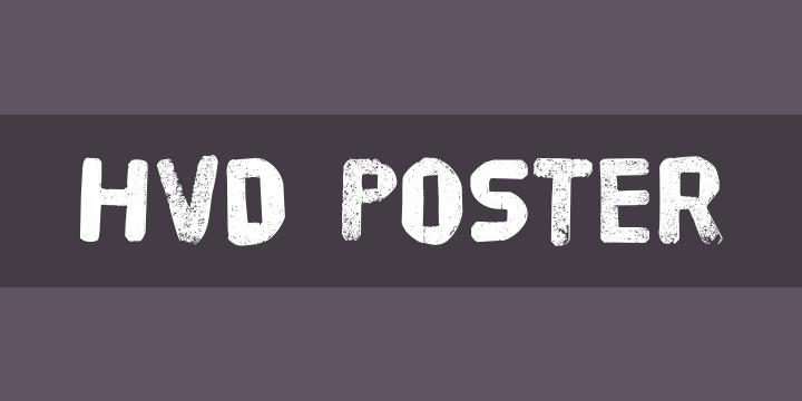 Hvd Poster Font Free By Hvd Fonts Font Squirrel