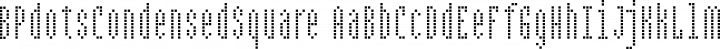 BPdotsCondensedSquare Regular free font