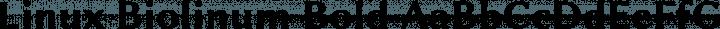 Linux Biolinum Bold free font
