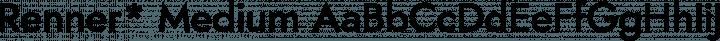 Renner* Medium free font