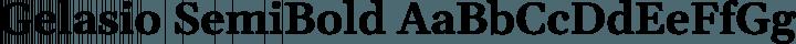 Gelasio SemiBold free font