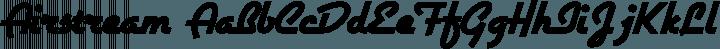 Airstream Regular free font