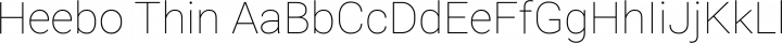 Heebo Thin free font