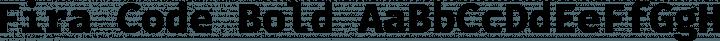 Fira Code Bold free font