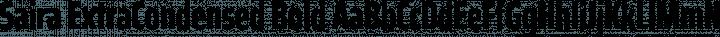 Saira ExtraCondensed Bold free font