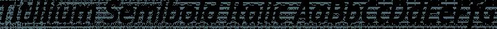 Titillium Semibold Italic free font