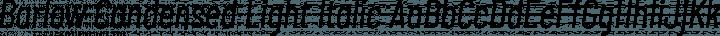 Barlow Condensed Light Italic free font