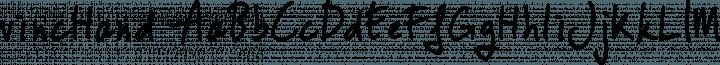 vincHand Regular free font