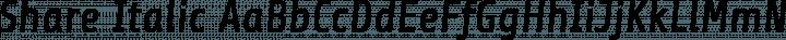 Share Italic free font