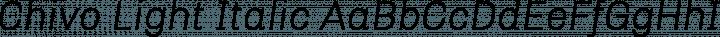 Chivo Light Italic free font