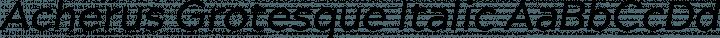 Acherus Grotesque Italic free font