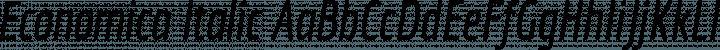 Economica Italic free font