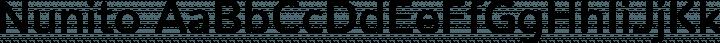 Nunito font family by Vernon Adams