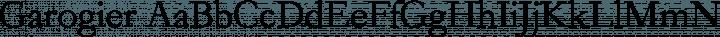 Garogier Regular free font