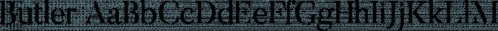 Butler font family by Fabian De Smet