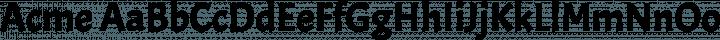 Acme Regular free font