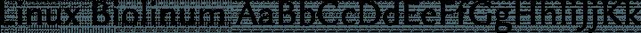 Linux Biolinum Regular free font