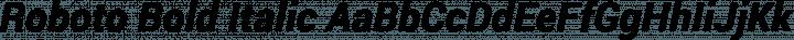 Roboto Bold Italic free font