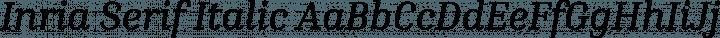 Inria Serif Italic free font