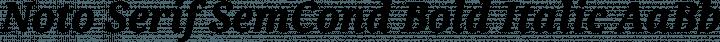 Noto Serif SemCond Bold Italic free font